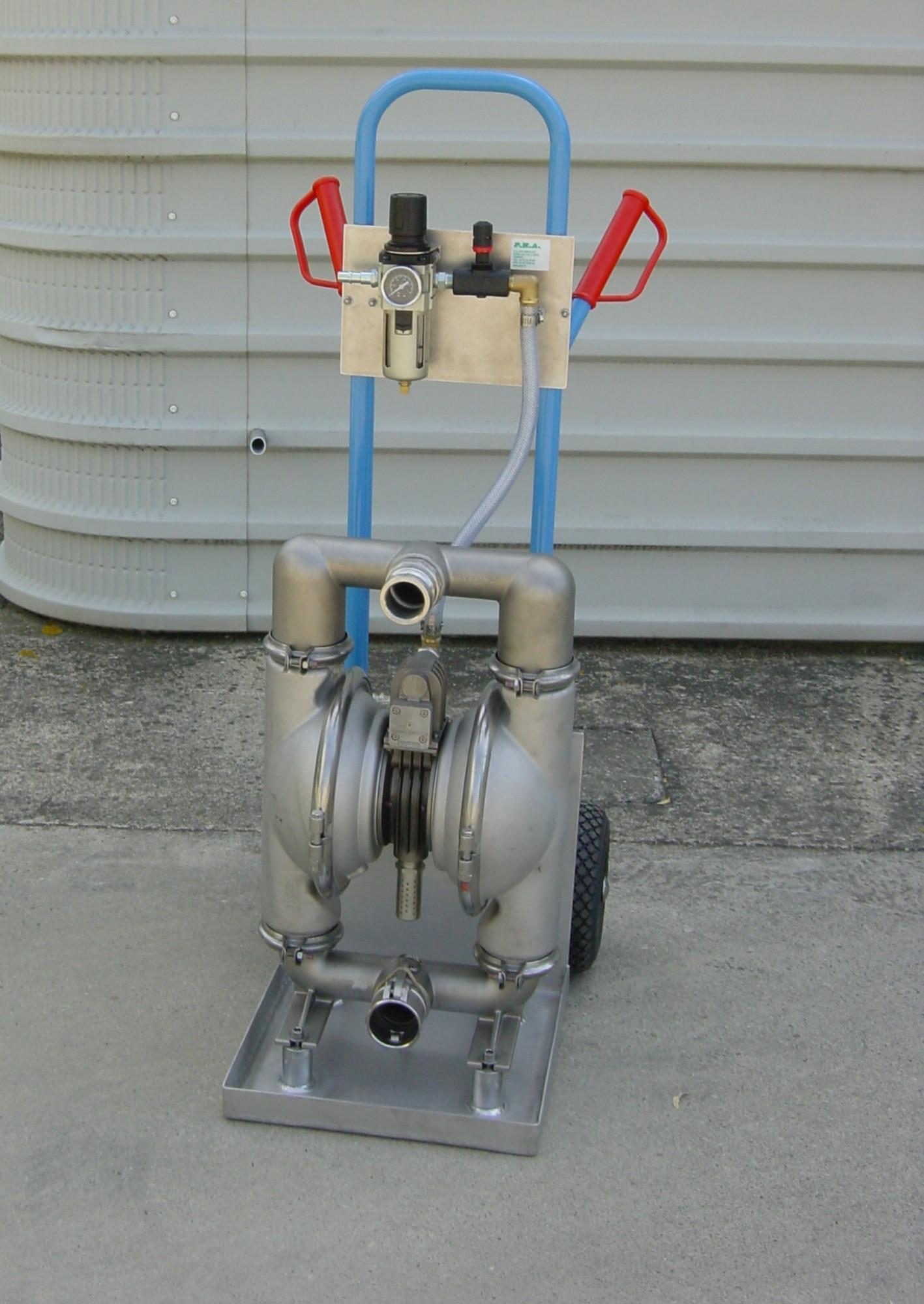 Achievements air operated diaphragm pump on trolley e2 inox epdm ccuart Gallery